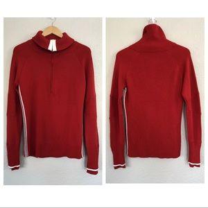 Athletes Merino Ski Line Red Sweater Large